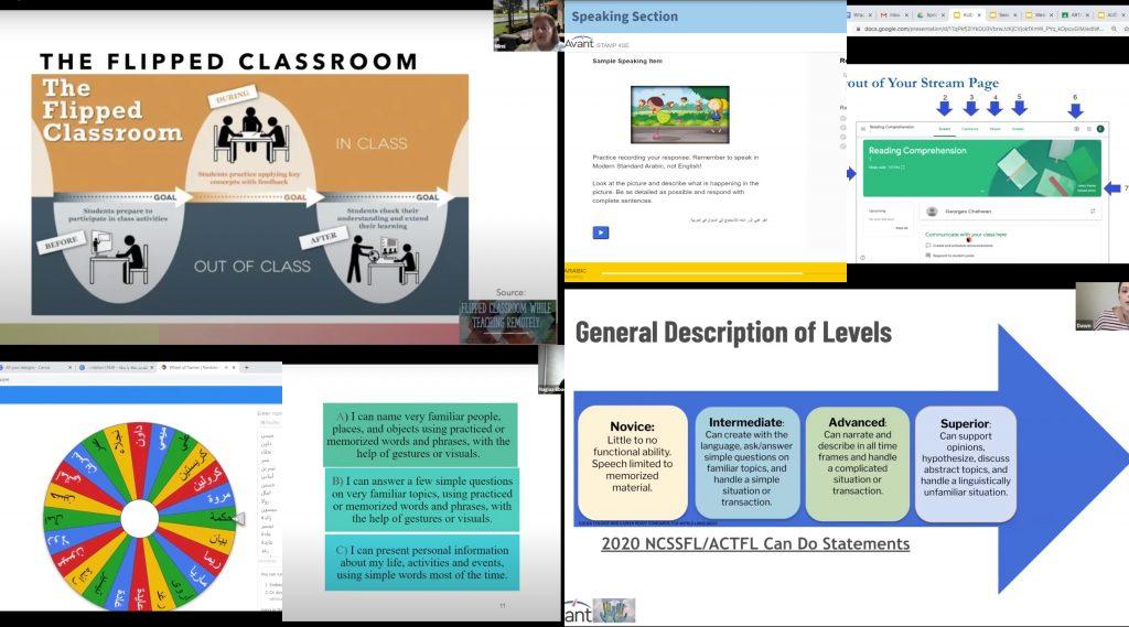 Screenshot of online presentations