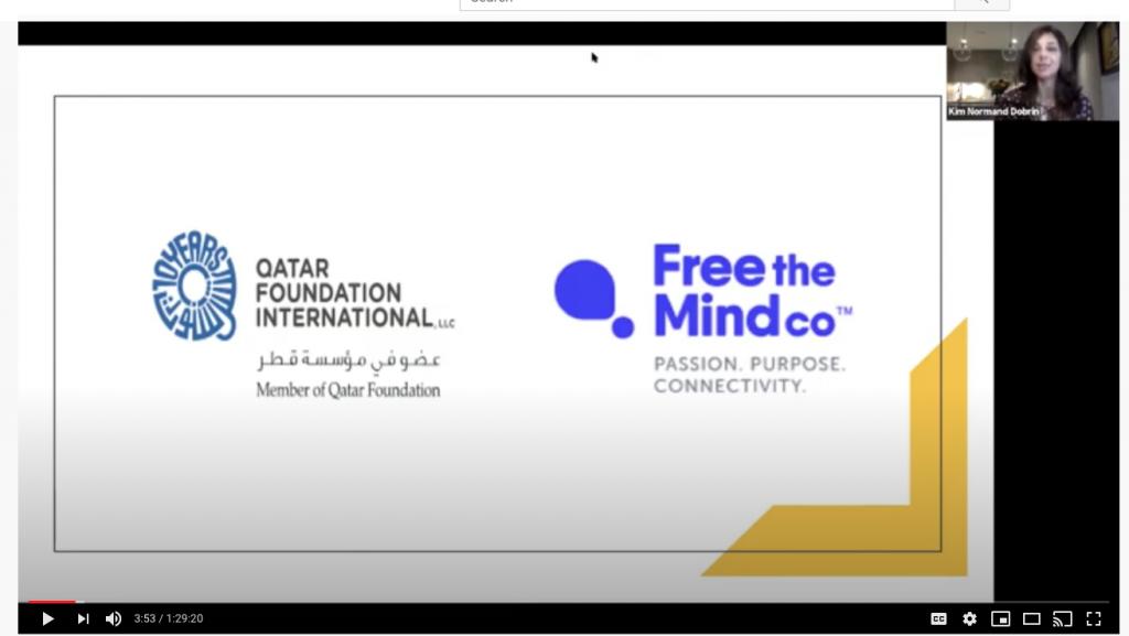 Screenshot of an online presentation