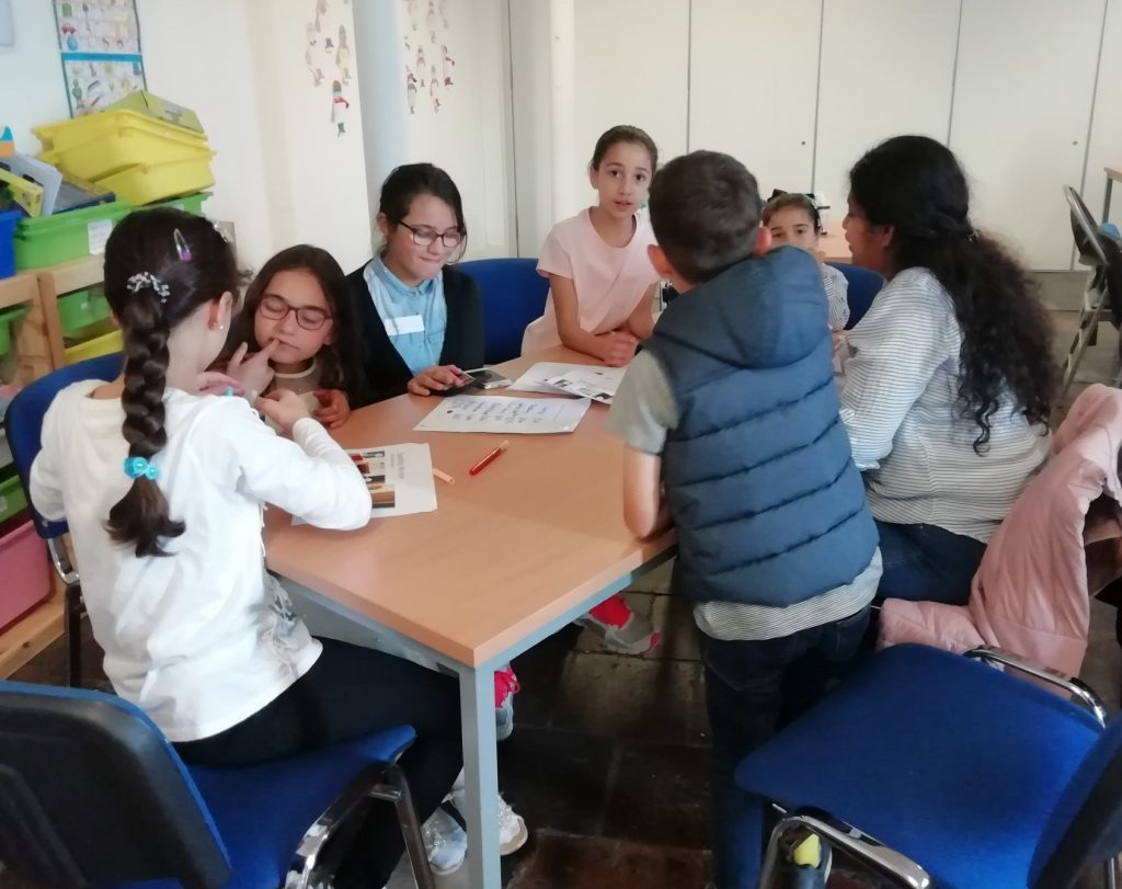 Children participating in a group activity