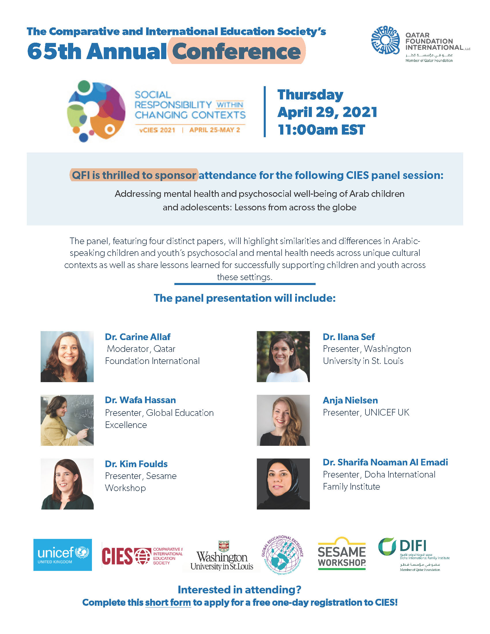 CIES flyer for 65th annual conference